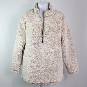 Stillwater Supply Co tan 1/4 zip fleece pullover